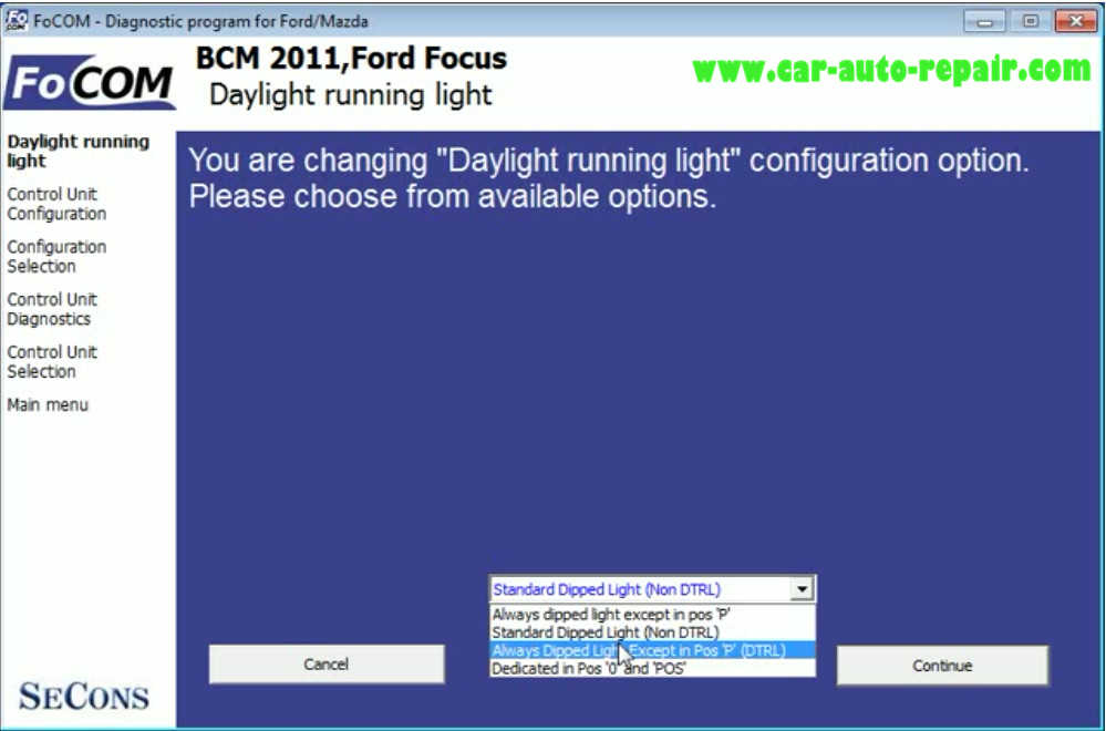 Ford Focus 2011 Day Running Lights Coding by FCOM (6)