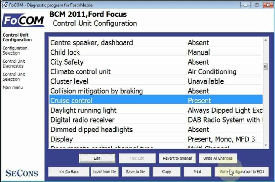 Ford Focus Cruise Control CCF Programming by FCOM (11)