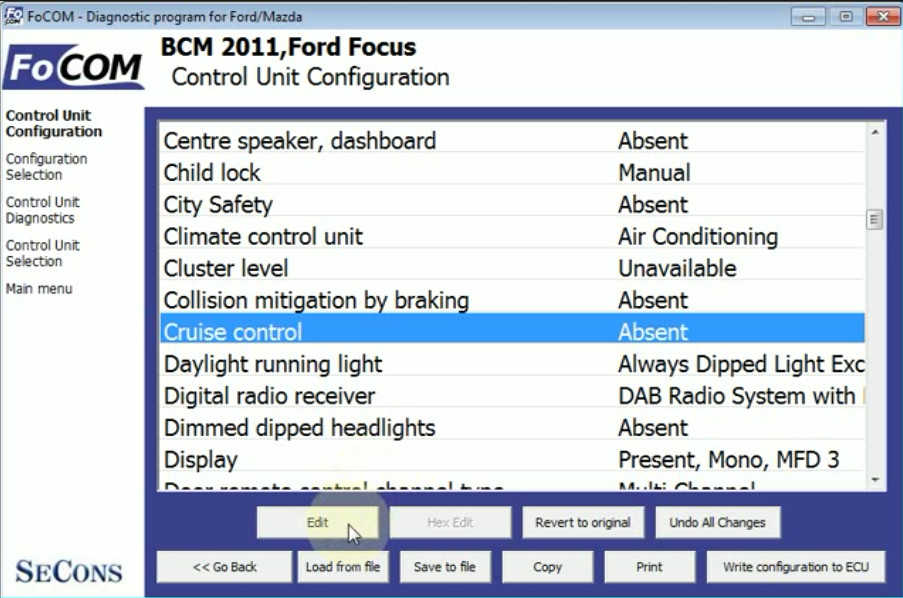 Ford Focus Cruise Control CCF Programming by FCOM (9)