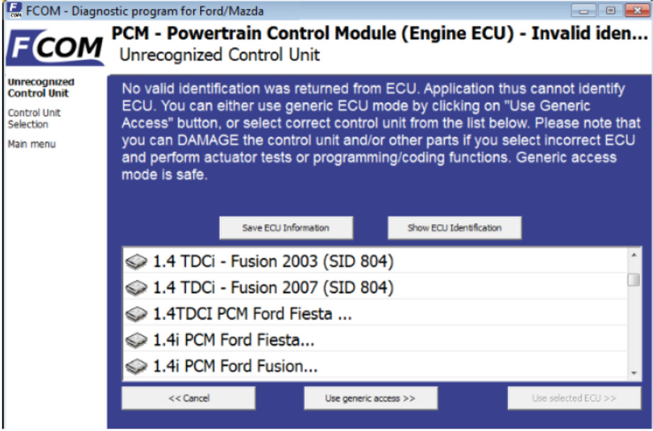 How to Use FCOM Diagnose Vehicles (9)
