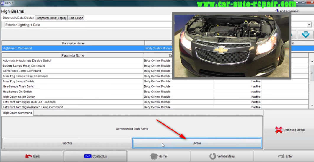 How to Use GM GDS2 Perform Bi-directional Controls (11)