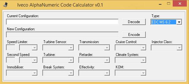 IVECO.AlphaNumeric.Code.Calculator