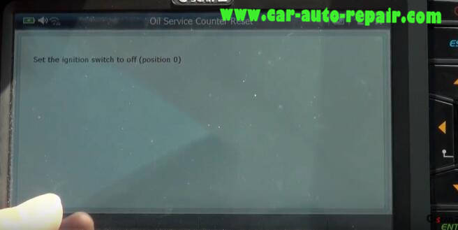 G-Scan 2 Diagnostic Tool to Rest Oil Service Counter for Jaguar XF 2011 (14)
