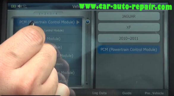 G-Scan 2 Diagnostic Tool to Rest Oil Service Counter for Jaguar XF 2011 (6)
