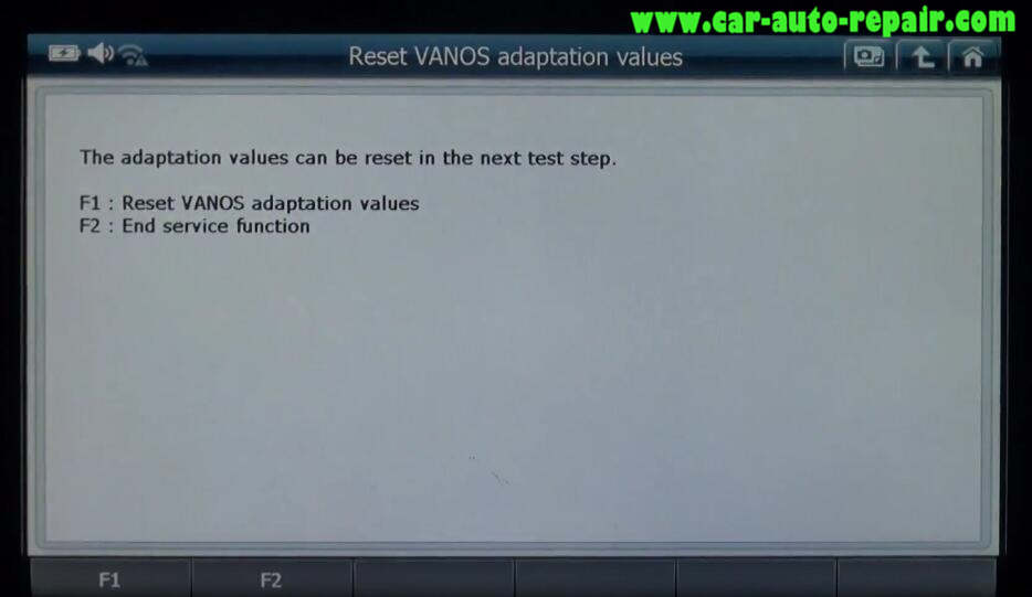 G-scan 2 Reset VANOS Adaptation Values for BMW 320I 2011 (4)