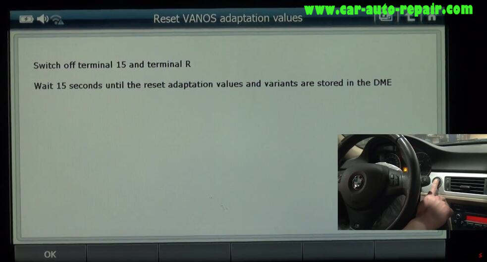 G-scan 2 Reset VANOS Adaptation Values for BMW 320I 2011 (6)