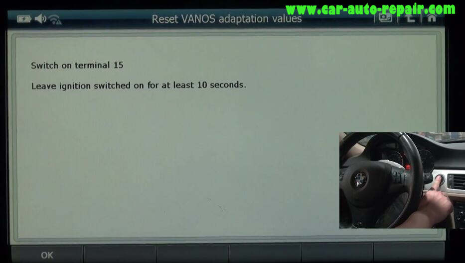 G-scan 2 Reset VANOS Adaptation Values for BMW 320I 2011 (7)