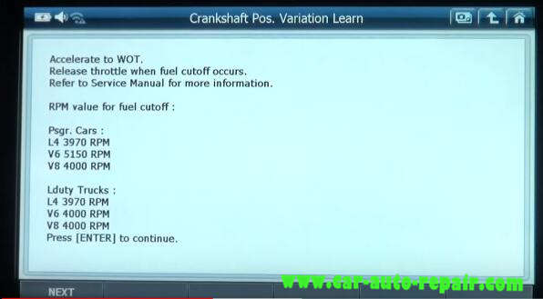 Gscan 2 Learn Crankshaft Position Variation for Chevrolet Impala 2010 (9)