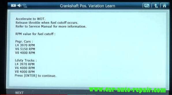 Gscan 2 Learn Crankshaft Position Variation for Chevrolet Impala 2010 (9)
