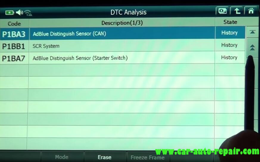 Gscan 2 Read & Clear DTCs for Mitsubishi Fuso Super Great Truck (7)
