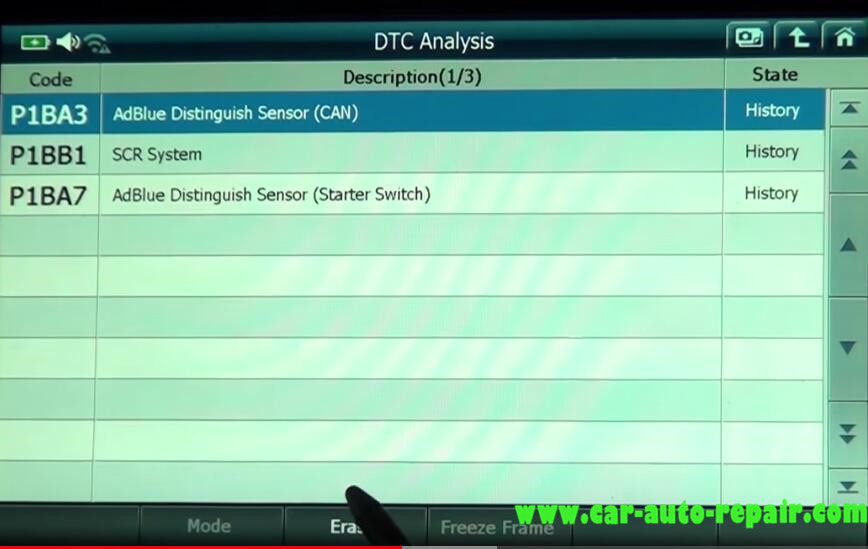 Gscan 2 Read & Clear DTCs for Mitsubishi Fuso Super Great Truck (8)