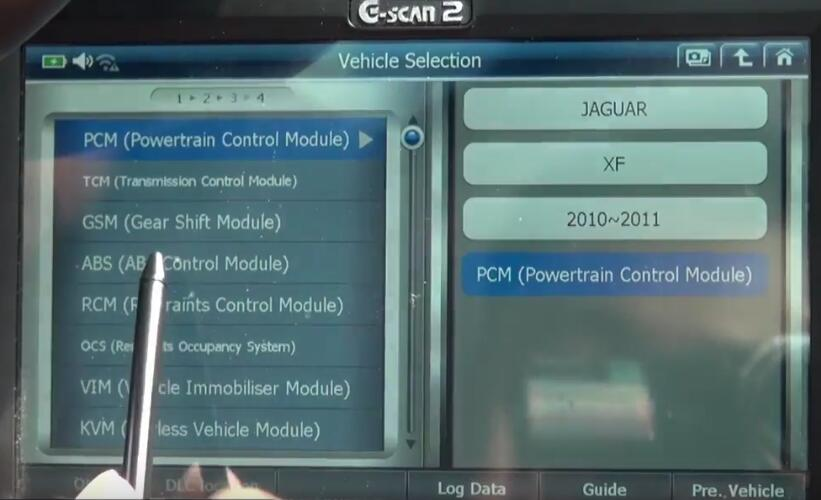 How to Bleed Brake System for Jaguar XF 3L by G-Scan 2 (5)