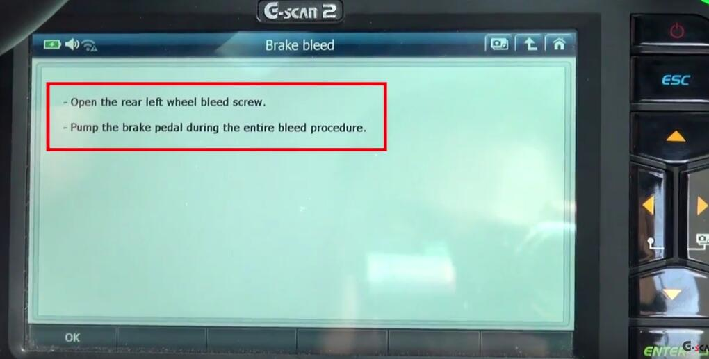 How to Bleed Brake System for Jaguar XF 3L by G-Scan 2 (9)