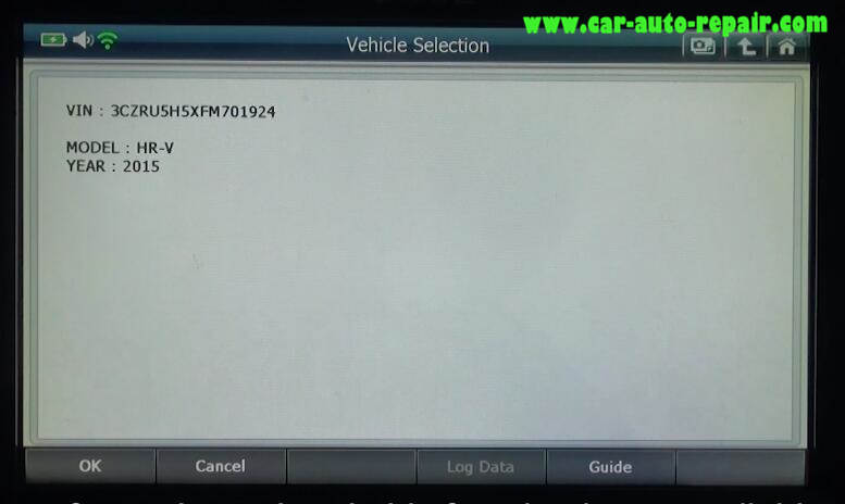 How to Use G-Scan 2 Do VSA Function for Honda HR-V 2015 (3)