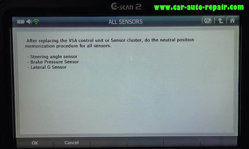 How to Use G-Scan 2 Do VSA Function for Honda HR-V 2015 (7)