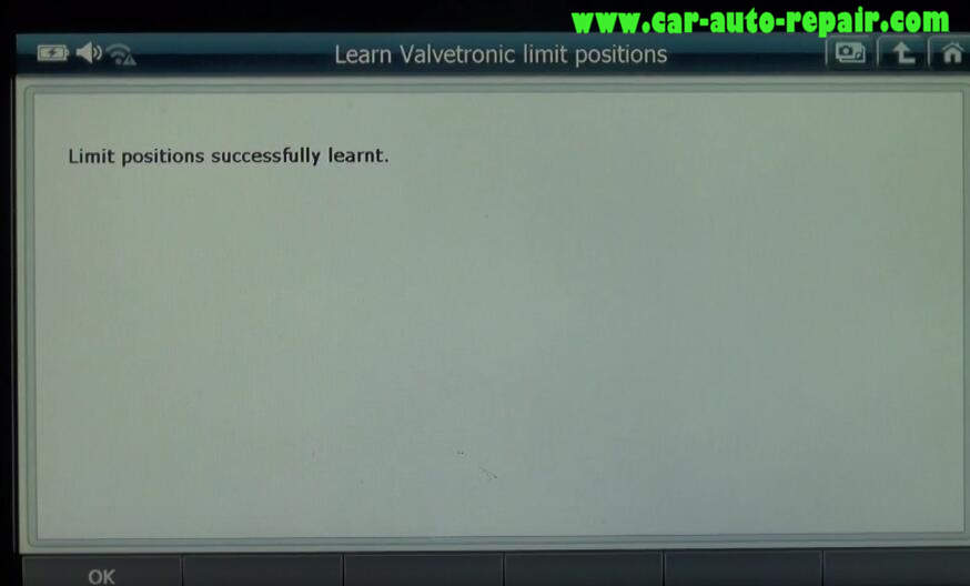 How to Use G-Scan 2 Learn Valvetronic Limit Positions for BMW 320I 2011 (9)