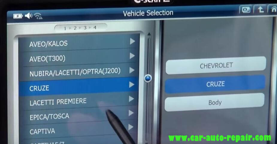 How to Use G-Scan Program New Keys for Chevrolet Cruze 2012 (1)