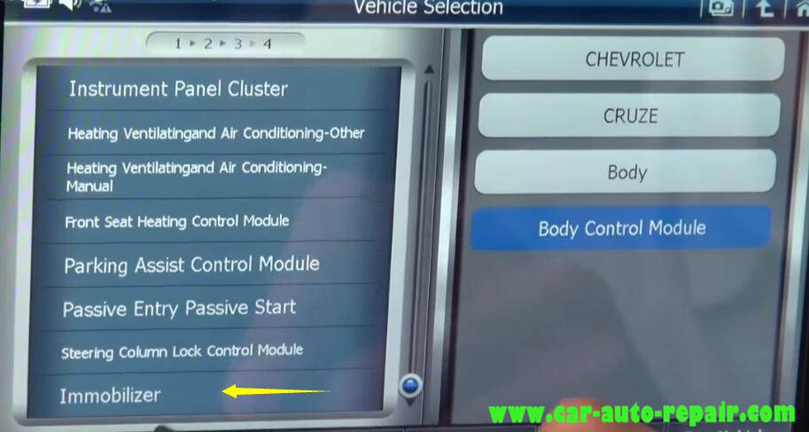 How to Use G-Scan Program New Keys for Chevrolet Cruze 2012 (3)