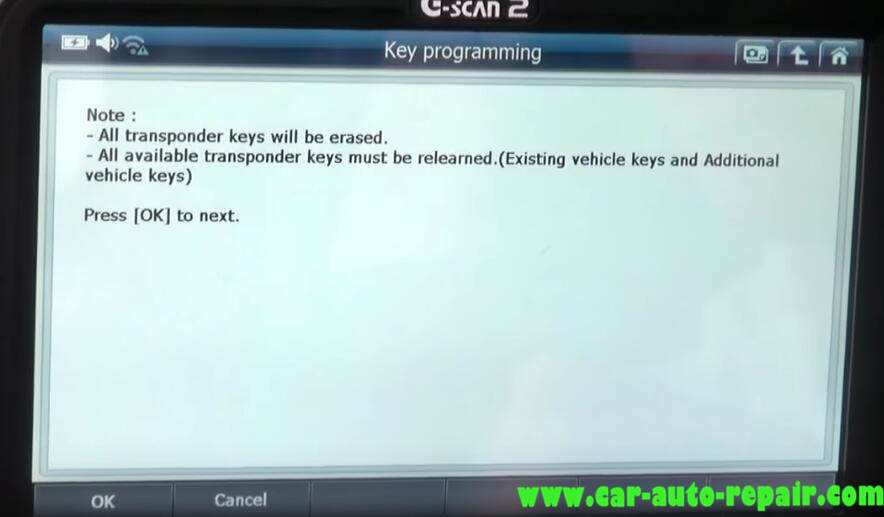 How to Use G-Scan Program New Keys for Chevrolet Cruze 2012 (7)