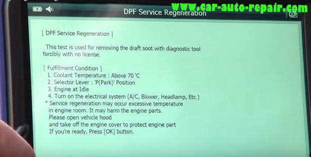 How to Use G-Scan Tool Regenerate DPF for Hyundai i40 2014 (10)