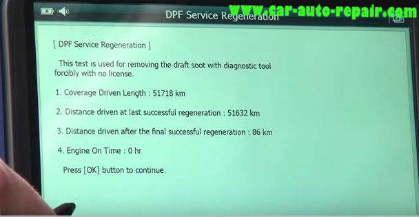 How to Use G-Scan Tool Regenerate DPF for Hyundai i40 2014 (12)