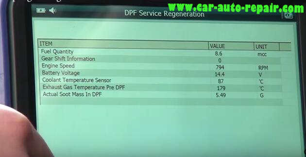 How to Use G-Scan Tool Regenerate DPF for Hyundai i40 2014 (13)