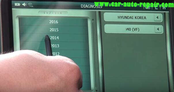 How to Use G-Scan Tool Regenerate DPF for Hyundai i40 2014 (5)
