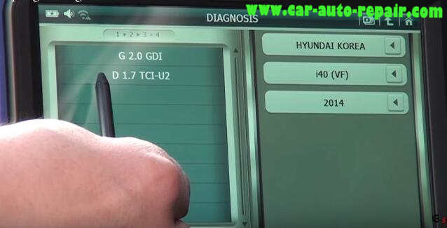 How to Use G-Scan Tool Regenerate DPF for Hyundai i40 2014 (6)