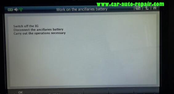 How to Use G-Scan2 ResetCode Ancillaries Battery for Citroen C3 2017 (10)