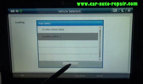How to Use G-Scan2 ResetCode Ancillaries Battery for Citroen C3 2017 (4)