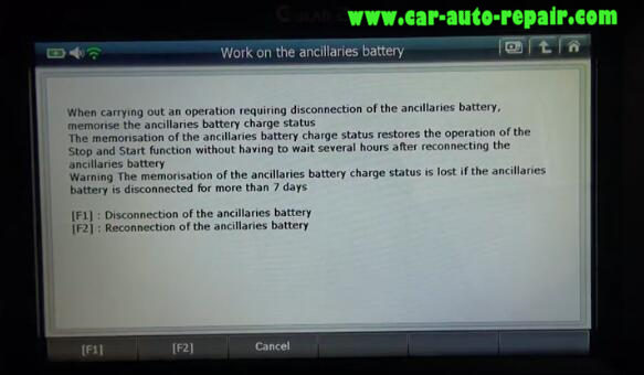 How to Use G-Scan2 ResetCode Ancillaries Battery for Citroen C3 2017 (8)