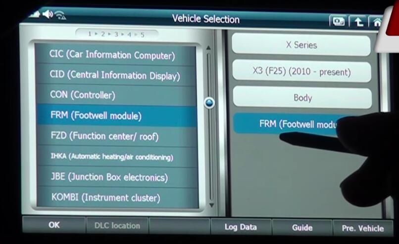 How to Use G-scan 2 Initialize Headlight Driver Module for BMW X3 2015 (1)