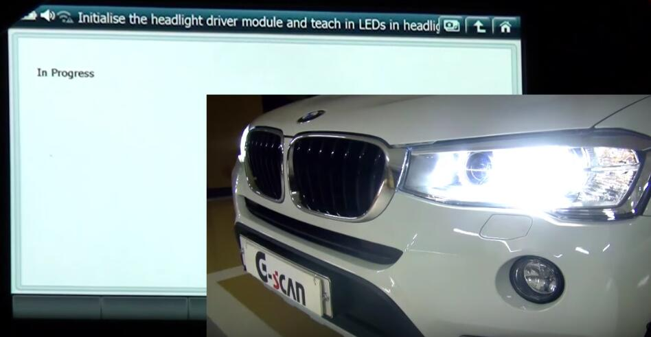 How to Use G-scan 2 Initialize Headlight Driver Module for BMW X3 2015 (11)