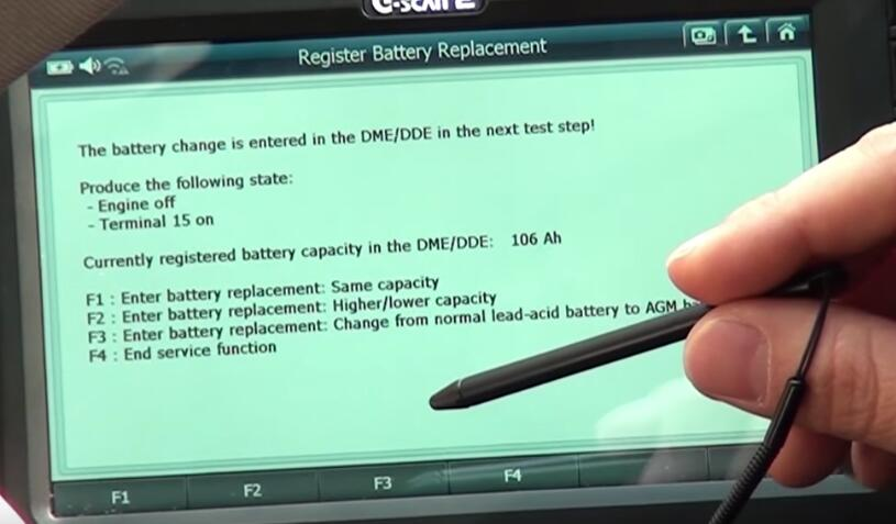 How to Use G-scan 2 Register New Battery for BMW X3 2015 (13)