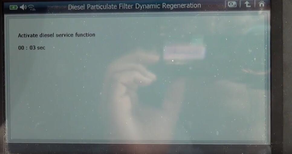 Jaguar XF 2011 DPF Regeneration by G-Scan 2 Diagnostic Tool (10)