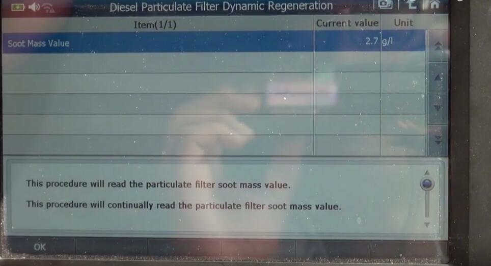 Jaguar XF 2011 DPF Regeneration by G-Scan 2 Diagnostic Tool (12)
