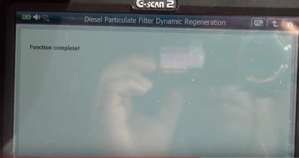 Jaguar XF 2011 DPF Regeneration by G-Scan 2 Diagnostic Tool (13)