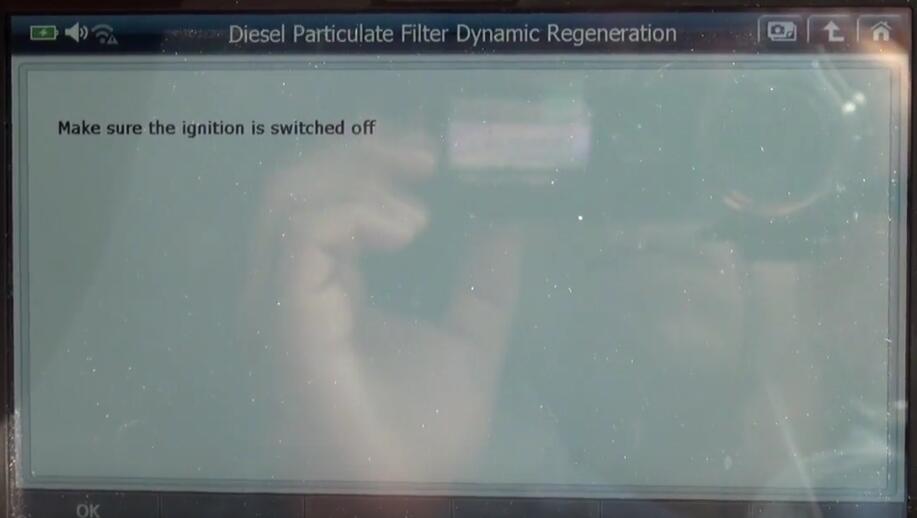 Jaguar XF 2011 DPF Regeneration by G-Scan 2 Diagnostic Tool (15)