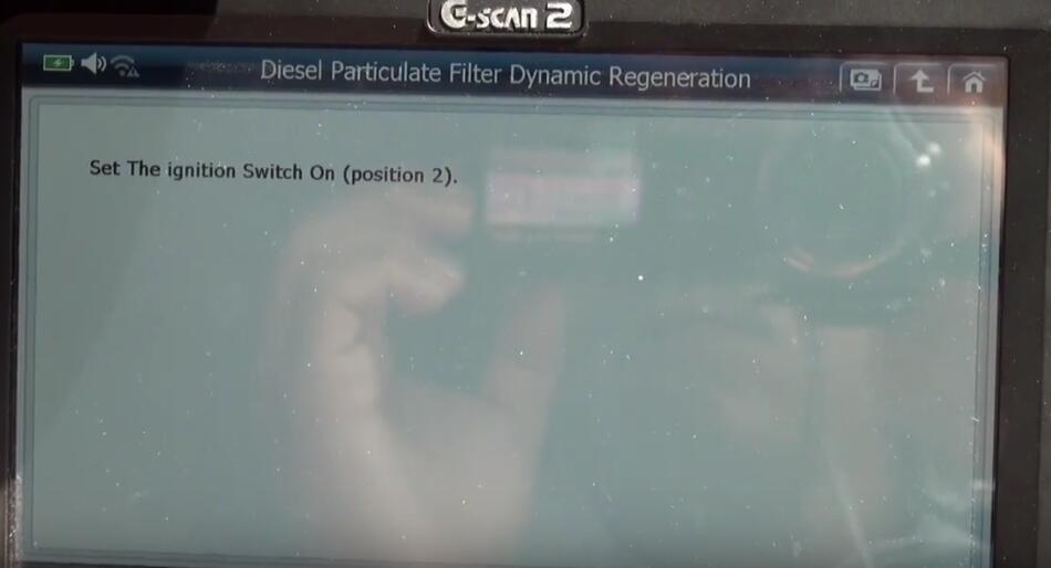 Jaguar XF 2011 DPF Regeneration by G-Scan 2 Diagnostic Tool (17)