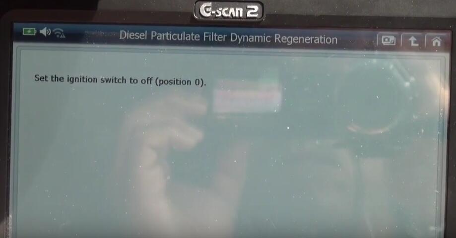 Jaguar XF 2011 DPF Regeneration by G-Scan 2 Diagnostic Tool (18)