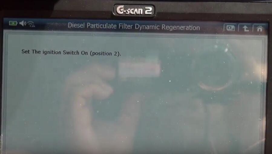 Jaguar XF 2011 DPF Regeneration by G-Scan 2 Diagnostic Tool (19)