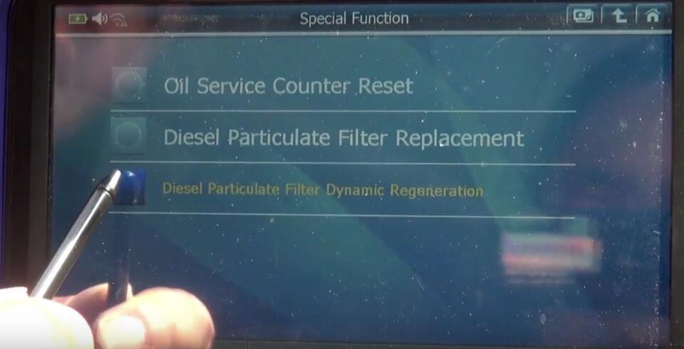 Jaguar XF 2011 DPF Regeneration by G-Scan 2 Diagnostic Tool (2)