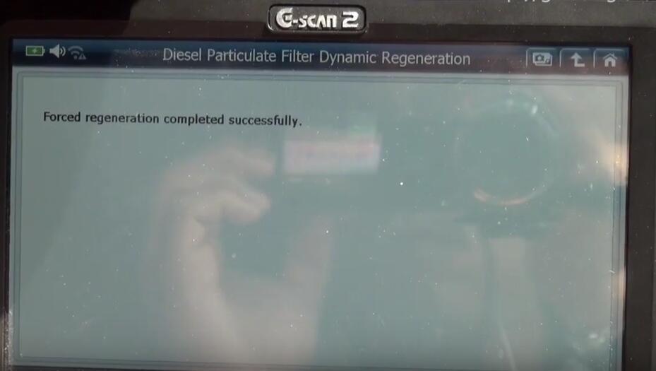 Jaguar XF 2011 DPF Regeneration by G-Scan 2 Diagnostic Tool (20)