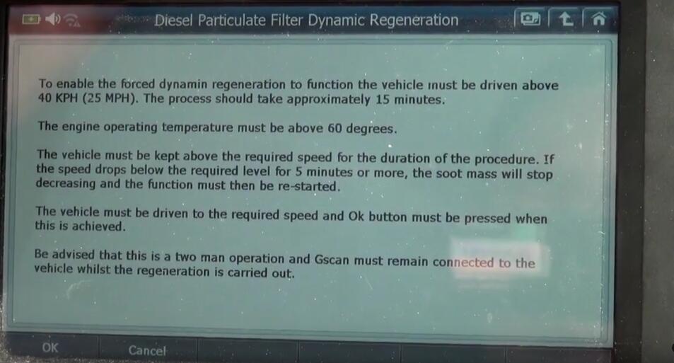 Jaguar XF 2011 DPF Regeneration by G-Scan 2 Diagnostic Tool (5)