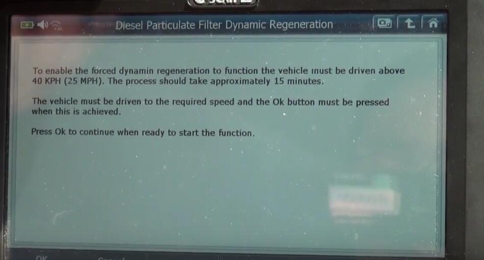 Jaguar XF 2011 DPF Regeneration by G-Scan 2 Diagnostic Tool (6)