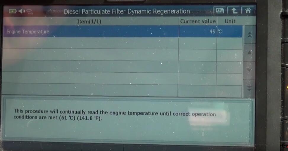 Jaguar XF 2011 DPF Regeneration by G-Scan 2 Diagnostic Tool (7)