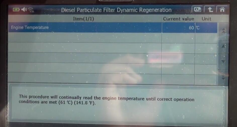 Jaguar XF 2011 DPF Regeneration by G-Scan 2 Diagnostic Tool (8)