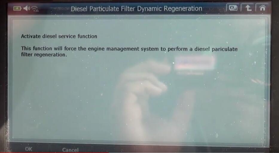 Jaguar XF 2011 DPF Regeneration by G-Scan 2 Diagnostic Tool (9)