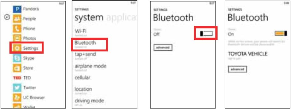 Toyota ENTUNE Bluetooth Pairing for Android,IOS and Window Phone (10)