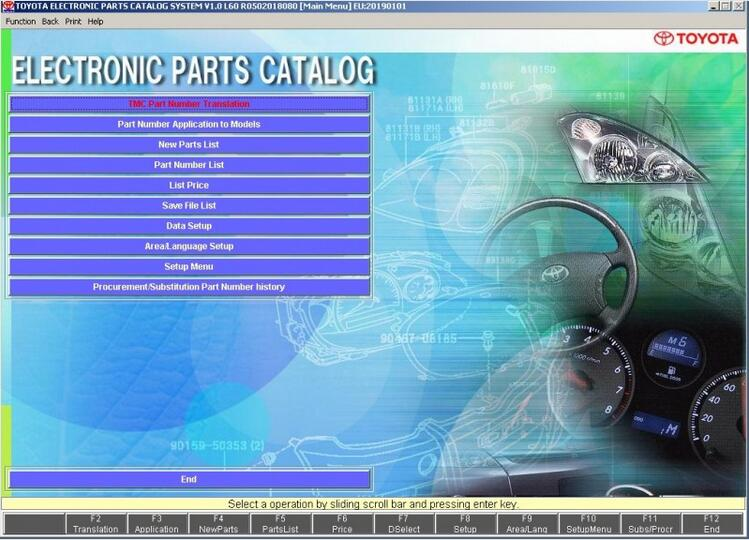 Toyota Lexus Electronic Parts Catalog 2019 2018 2017 Free Download